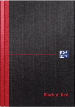 Oxford Black n' Red notitieboek, ft A5, gelijnd, 192 bladzijden