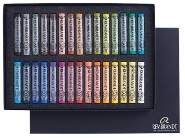 Rembrandt softpastels, doos met 30 pastels