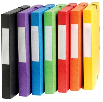 Pergamy elastobox, rug van 4 cm, geassorteerde kleuren