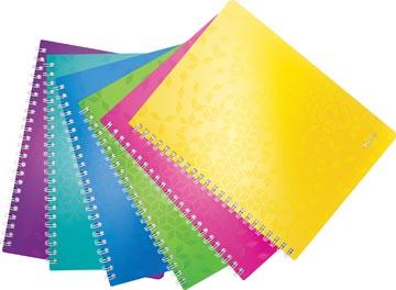 Leitz WOW schrift ft A4, gelijnd, geassorteerde kleuren