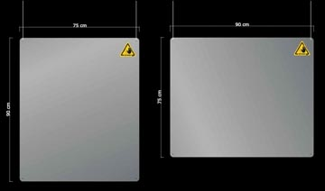 Jalema afscheidingsscherm, transparant, hangend, ft 90 x 75 cm