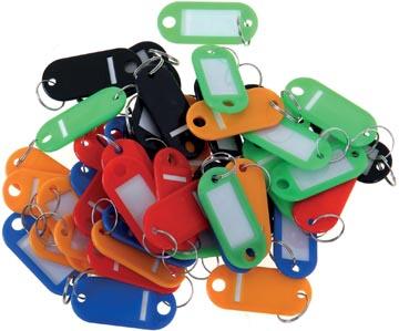 Sleutelhangers, geassorteerde kleuren, pak van 20 stuks