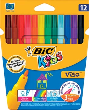 Bic Kids viltstift Visa 12 stiften