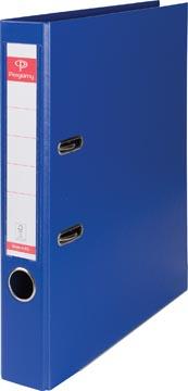 Pergamy ordner, voor ft A4, volledig uit PP, rug van 5 cm, donkerblauw