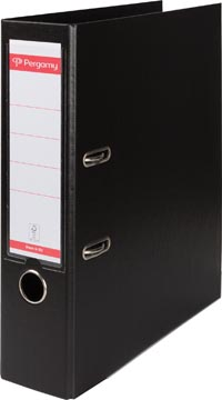 Pergamy ordner, voor ft A4, volledig uit PP, rug van 8 cm, zwart