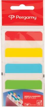 Pergamy tabs, ft 38 x 51 mm, pak van 4 x 6 vel, geassorteerde kleuren