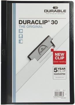 Durable klemmap Duraclip Original 30 zwart