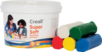Havo boetseerpasta Supersoft 5 geassorteerde kleuren: rood, groen, geel, wit en blauw