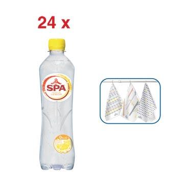 ACTIE SPA: 1 x Touch of lemon water, 50 cl, 24 stuks (ref. 51886) + GRATIS 1 x Spa keukenhanddoek