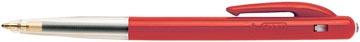Bic balpen M10 Clic schrijfbreedte 0,4 mm, medium punt, rood