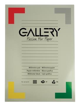 Gallery millimeterpapier, ft 29,7 x 42 cm (A3), blok van 50 vel