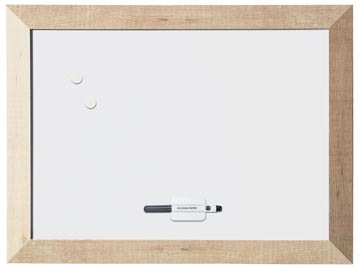 Bi-Office Kamashi magnetisch whiteboard met naturel kader