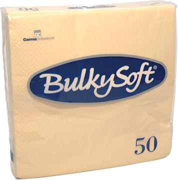 Bulkysoft servetten 2-laags, creme, pak van 50 servetten