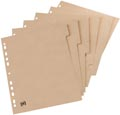 OXFORD Touareg intercalaires, format A4, en carton, onbedrukt, 11 trous, 5 onglets
